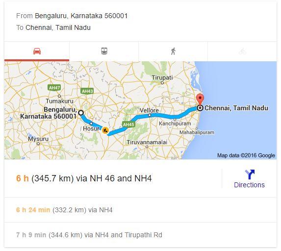 Distance Between Cities - Google Tricks