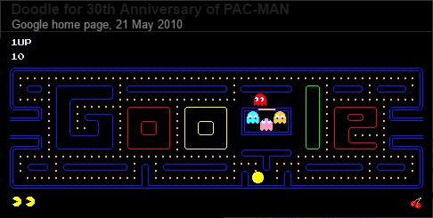 Pacman on Google - Google Tricks