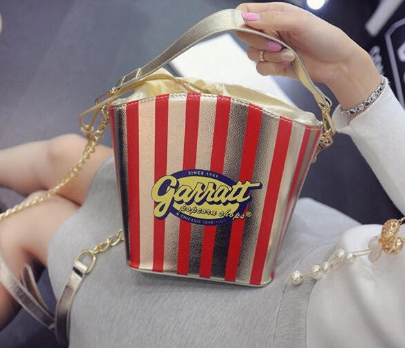 4 popcorn shaped handbag