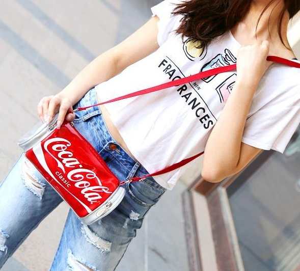 6 coca cola shaped bag