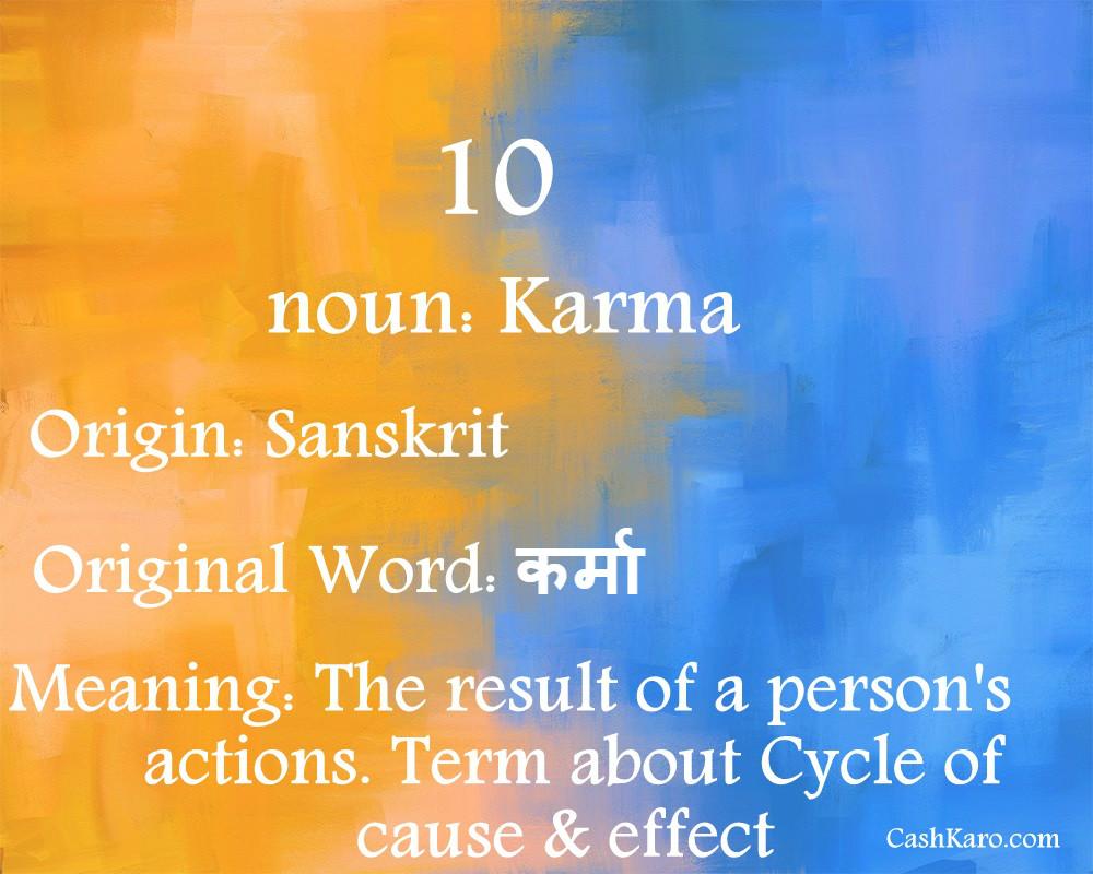 english word hindi 10