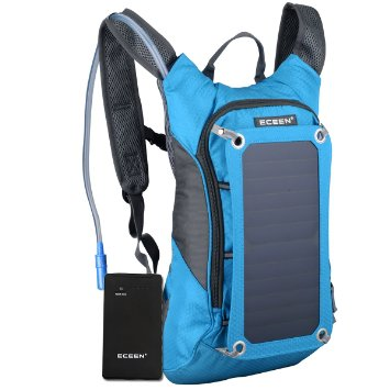 6 Solar Charger Hydration Backpack