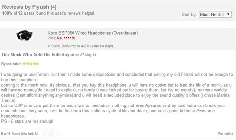 Funny Online Shopping Review - Selling Everything for Headphone