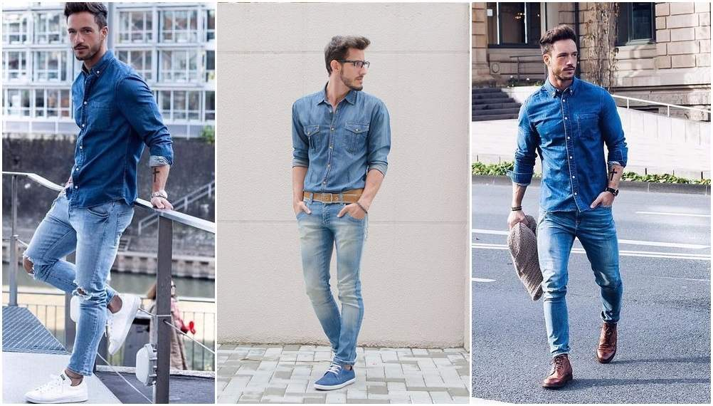 mens party wear dress code - double denim trend men-compressed