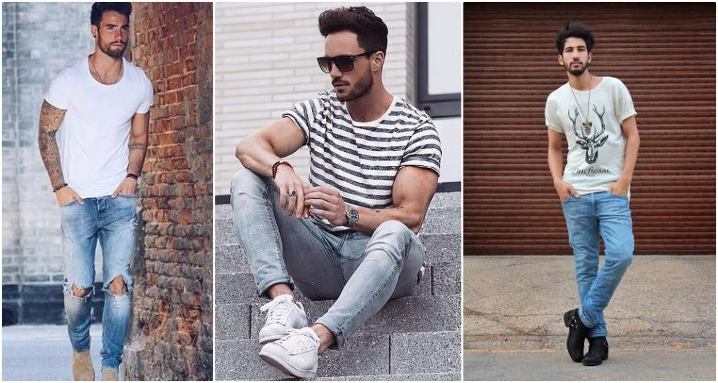 party outfit idea for guys - men tshirts trends