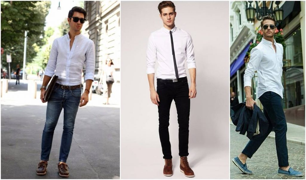 mens party wear dress code - white shirts men trend
