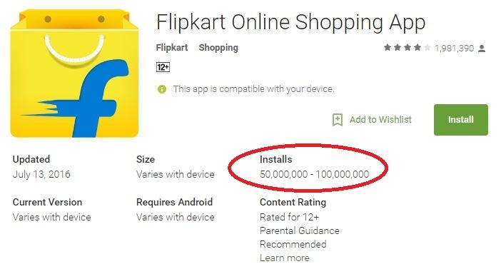 Flipkart Ratings