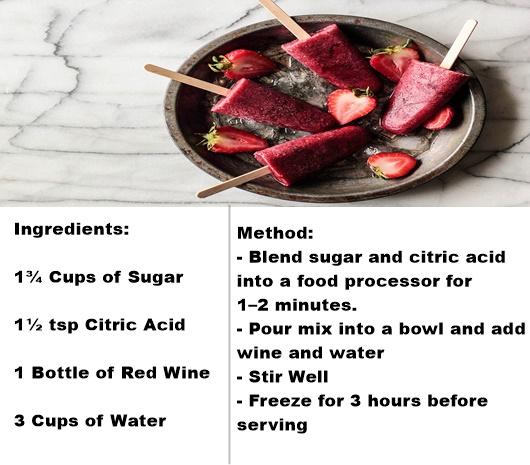 Wine Popsicles