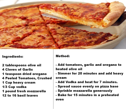 alcoholic pizza
