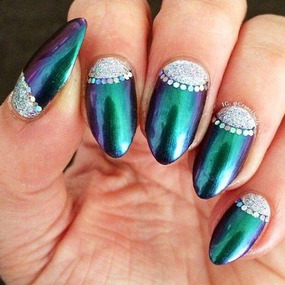 7- half moon nails