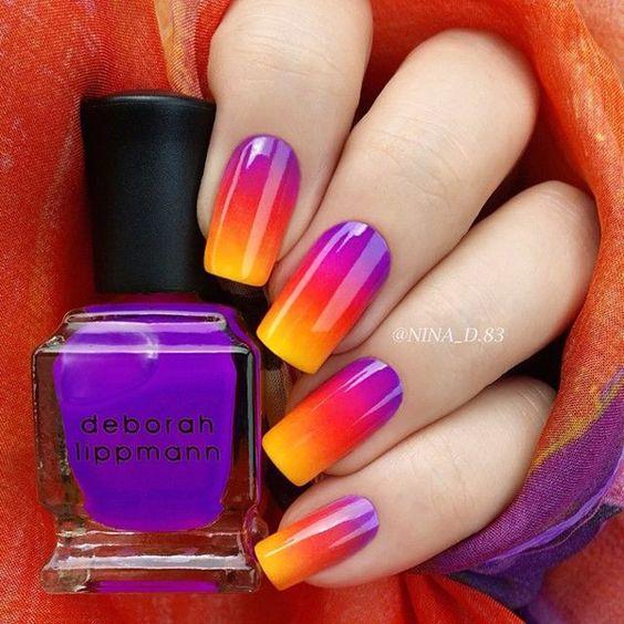9- ombre nails