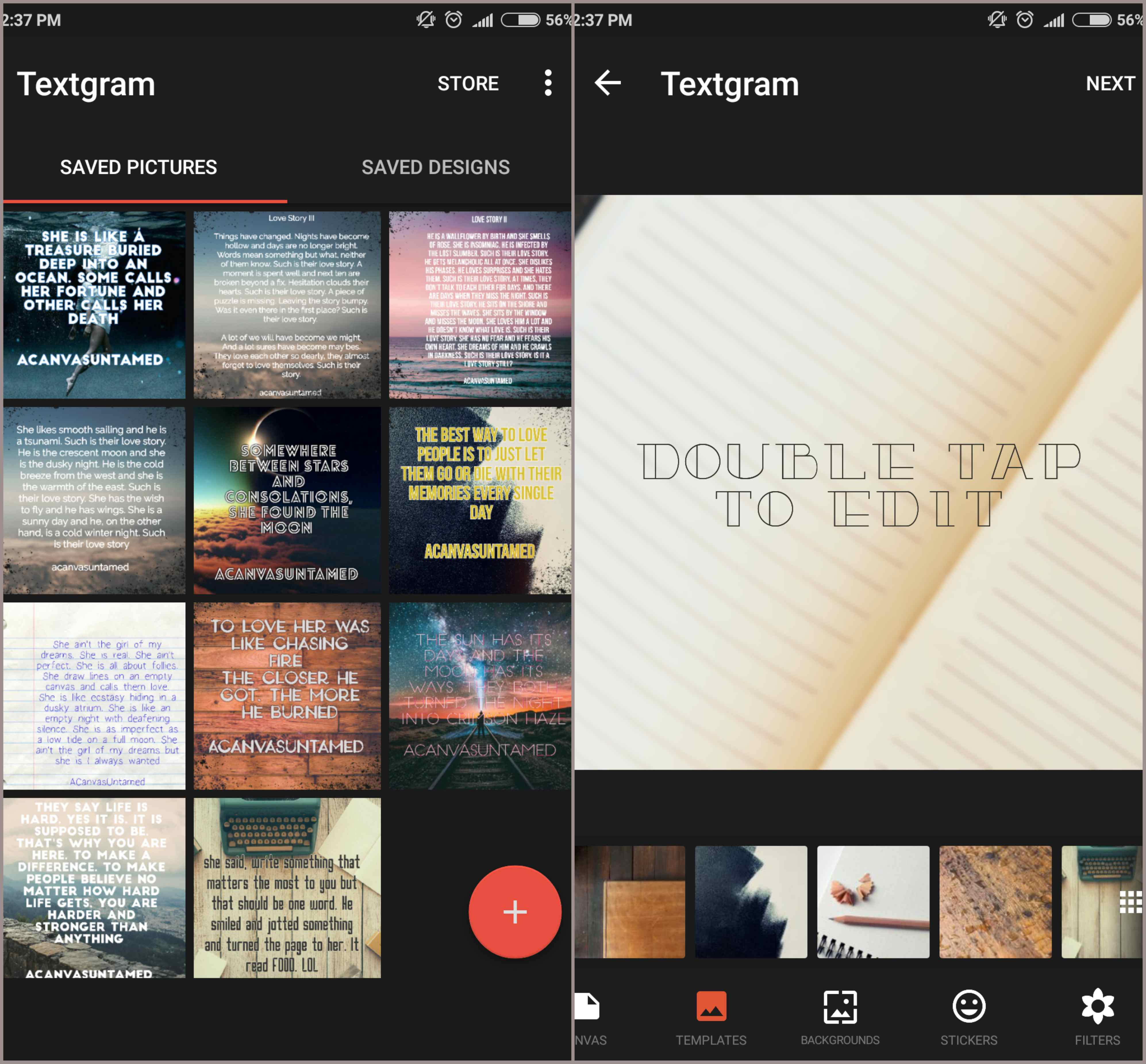 textgram app