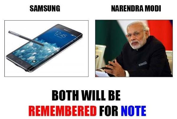 Galaxy Note - Narendra Modi