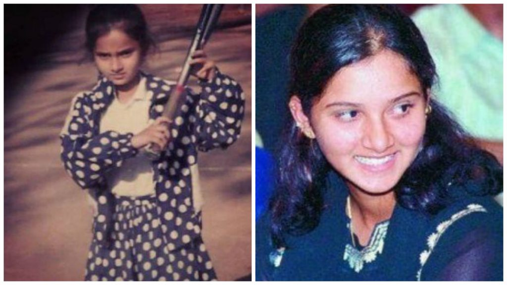 Sania Mirza Young