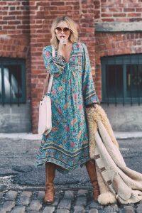 summer-folk-town-boho-dress-vintage-floral-print-v-neckline-with-tassel-tie-maxi-dresses-casual