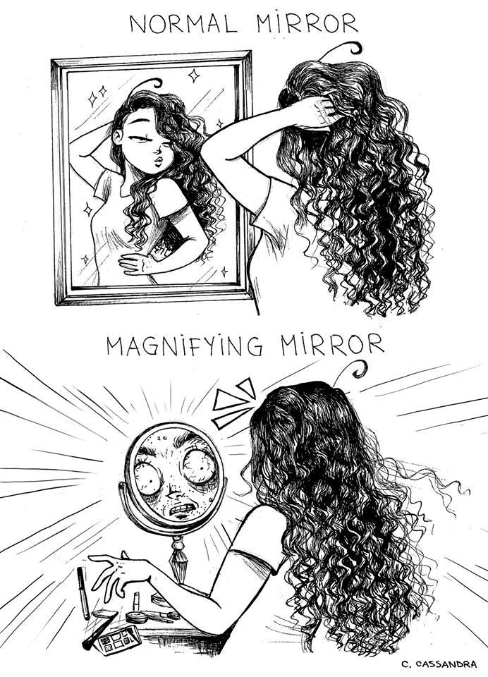 Cassandra magnifying mirror