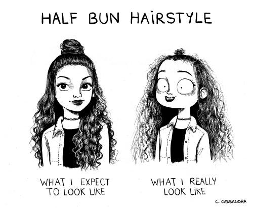Cassandra hair bun