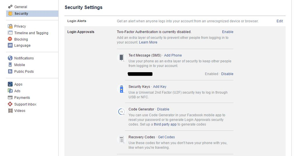 facebook hack login alerts