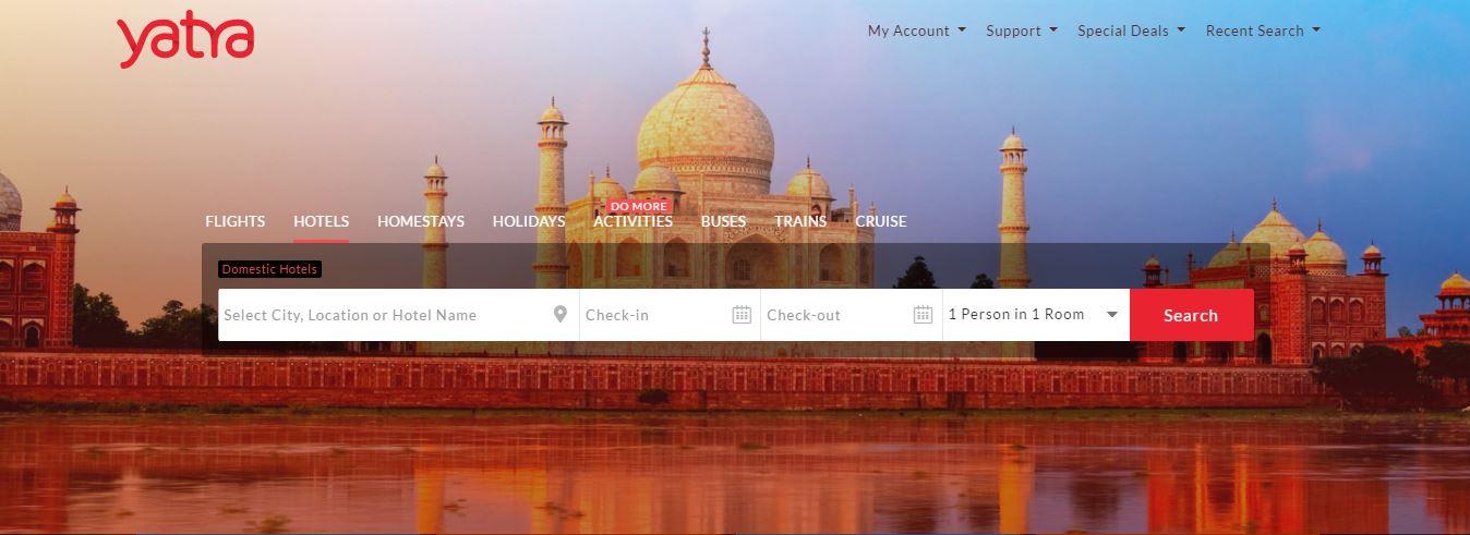 Yatra New Website