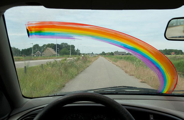 rainbow color prank