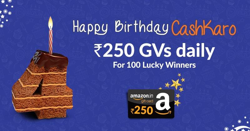 CashKaro Birthday Anniversary