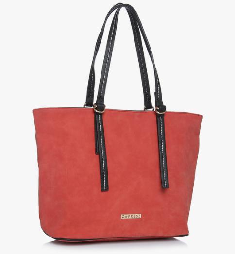 Caprese Red Brick Tote Bag. Rs 2,365 at Jabong