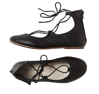 GAP Girls Lace Up Ballet Flats, Rs. 1,999 on NNNOW