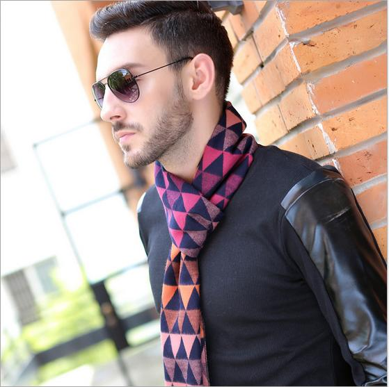 New-Styles-Mens-Scarf-Fashion-Winter-Brand-Scarf-Warm-Soft-Triangle-Styles-Multi-Color-All-Match
