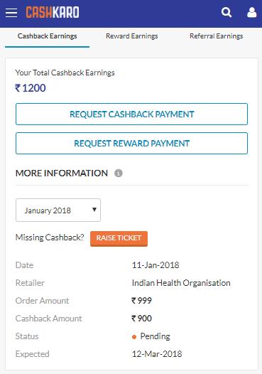 Blood test cashback confirmation
