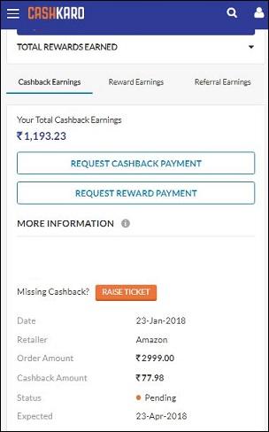 CashKaro Amazon Rewards
