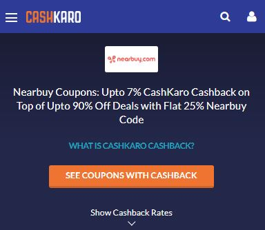 CashKaro Nearbuy