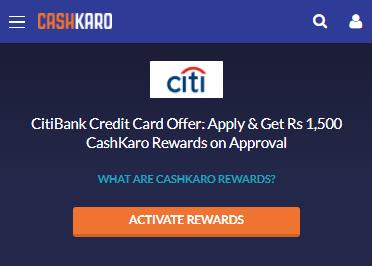 Citibank cashback card