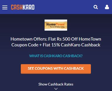 HomeTown CashKaro