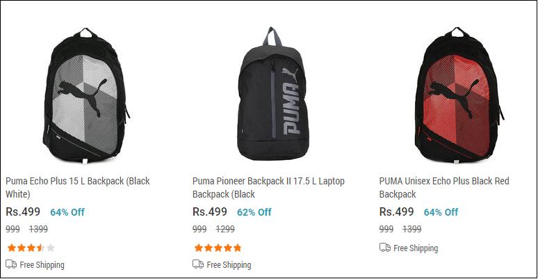Puma Bags at Rs 499