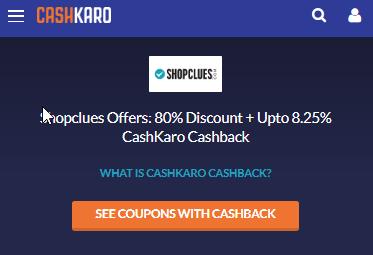 Search in CashKaro