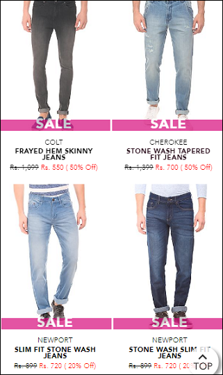 Select Jeans of your choice