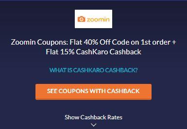 Zoomin CashKaro Offer
