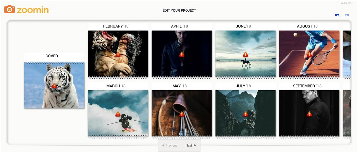 Zoomin Personalized Calendar Images