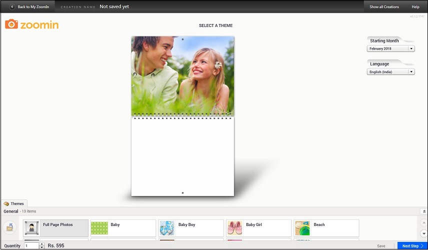 Zoomin Personalized Calendar
