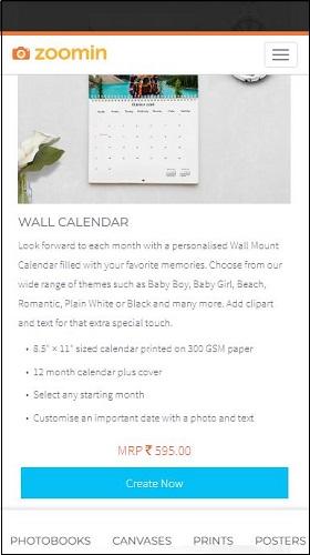 Zoomin Wall Calendar