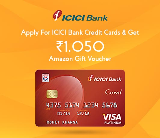 Apply For ICICI Credit Card: Get ICICI Bank Credit Card Amazon Voucher Worth Rs. 1050