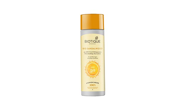 Biotique SPF 50 Bio Sandalwood Face and Body Sun Lotion