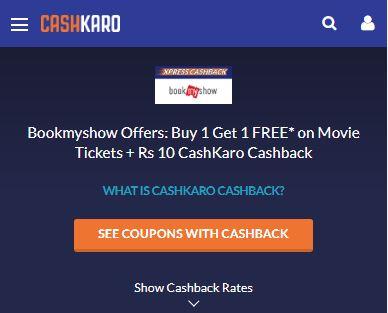 CashKaro BookMyShow