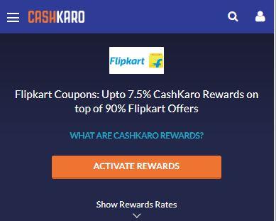 CashKaro Flipkart