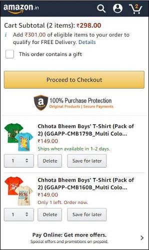 Chhota Bheem Boys T-Shirt Offer