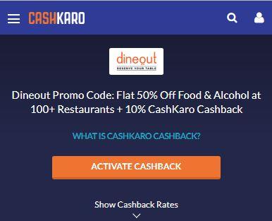 Dineout CashKaro