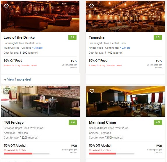 Dineout Restaurants and Pubs