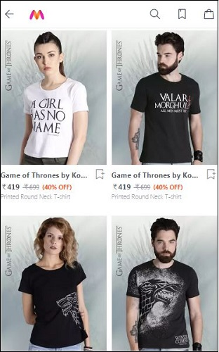 Games of Thrones T-Shirt Offer