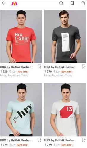 HRX Men T-Shirts