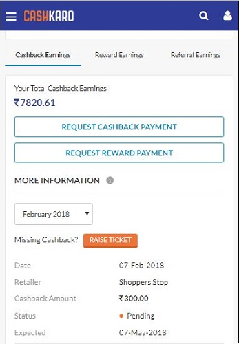 Shoppers Stop CashKaro